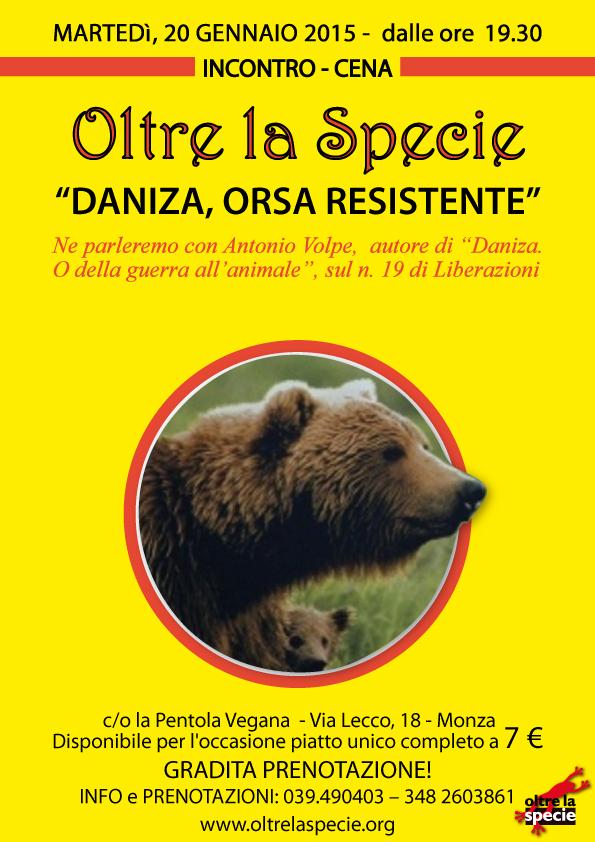 pentola Vegana - Daniza, orsa resistente
