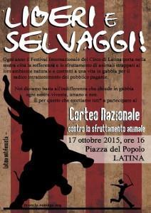 Latina - corteo nazionale contro il festival del circo