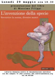 [Roma] L'invenzione della specie - M. Filippi @ Libreria Anomalia - centro di documentazione anarchica | Roma | Lazio | Italia