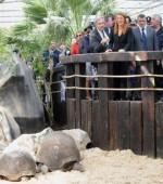 Michela Brambilla inaugura lo zoo Le Cornelle