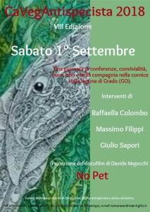 CaVegAntispecista 2018 - VIII Edizione @ Grado | Friuli-Venezia Giulia | Italia